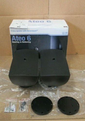 NEW Pair Of Audac ATEO6 2 Way Compact 8Ohm 60w Watt Clever Mount Wall Speaker